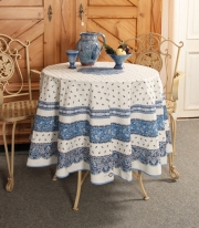 Tradition Blanc/Bleu Place Rund Dug Ø 180 cm